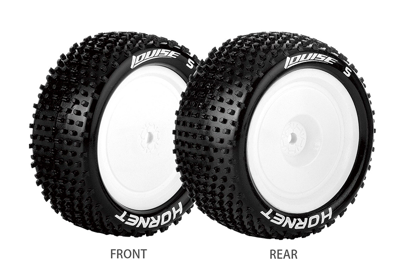 Фото - Колеса, диски, резина для радиоуправляемых машин Louise Rc E-HORNET 1/10 BUGGY 4WD FRONT TIRE SOFT / WHITE RIM / MOUNTED (FOR KYOSHO HEX 12MM FRONT) new arduino 2wd 4wd rc car chassis motor