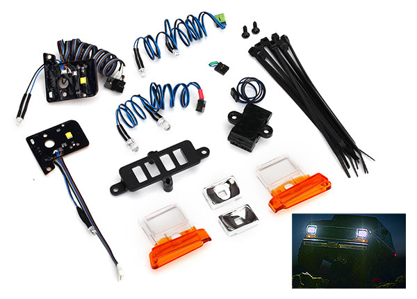 Фото - Запчасти для радиоуправляемых моделей Traxxas TRAXXAS LED light set (contains headlights, tail lights, side marker lights, & distribution block) (fits #8010 body, requires #8028 power supply) аксессуары для радиоуправляемых моделей traxxas body mercedes benz® g 500® 4x4² clear requires painting decals window masks includes rear body post grille side mirrors door handles