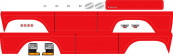 TRAXXAS запчасти : Decal sheet, Bronco, red