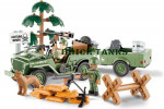 Jeep Willys MB with 1:4 Ton Cargo Trailer