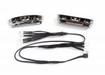 LED lights, light harness (4 clear, 4 red): bumpers, front & rear: wire ties (3)  (requires power su
