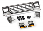 Grille, Ford Bronco: grille retainers (6): headlight housing (2): lens (2): 2.6x8 BCS (6): 2.5x6 BCS (2) (fits #8010 body)