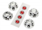 Center caps, wheel (chrome) (4): decal sheet (requires #8255A extended stub axle)