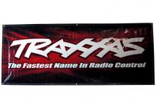 TRAXXAS запчасти Traxxas racing banner, red & black (3x7 feet)