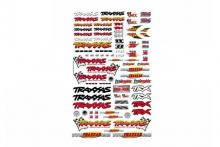 TRAXXAS запчасти Official Team Traxxas racing decal set (flag logo/ 6-color)