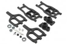 RPM True-Track Rear A-Arm Conversion,Black:TMX 3.3/EMX