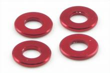 KYOSHO запчасти Aluminum Color (3x6.5x0.75mm:Red:4pcs)