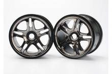 TRAXXAS запчасти SS split spoke black chrome 3.8 (17mm)