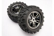 "TRAXXAS запчасти Back chrome 3.8"" + Maxx tires"