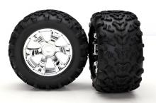 TRAXXAS запчасти Geode chrome wheels + Maxx tires 6.3