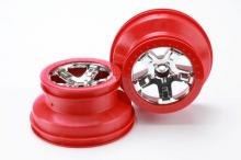 TRAXXAS запчасти SCT chrome red beadlock style dual profile 2WD front