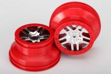 TRAXXAS запчасти SCT Split-Spoke chrome red beadlock style