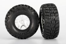 TRAXXAS запчасти SCT Split-Spoke satin chrome beadlock + S1 ultra-soft off-road