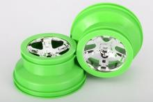 TRAXXAS запчасти SCT chrome green beadlock style