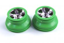 TRAXXAS запчасти SCT chrome green beadlock style 2.2