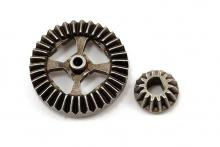 TRAXXAS запчасти Ring gear, differential/ pinion gear, differential (metal)