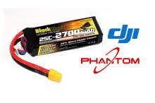 Black Magic 11.1V 2700mAh 25C LiPo XT60 plug for DJI Phantom