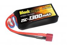 Black Magic 11.1V 1300mAh 25C LiPo Deans plug