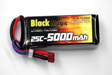 Black Magic 14.8V 5000mAh 25C LiPo Deans plug