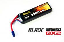 Black Magic LiPo 11,1В(3S) 3300mAh 25C Soft Case EC3 (for BLADE 350 QX2 and QX3)