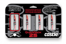 Castle Creations  Quadpack 25, 25AMP Multi-Rotor (4) Pack