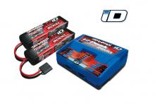 TRAXXAS запчасти EZ-Peak Plus 4-amp NiMH/LiPo (Dual Output) + 2 Batteries 11.1V 5000mAh