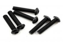 TRAXXAS запчасти Screws, 3x14mm button-head machine (hex drive) (6)