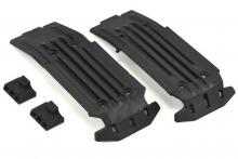TRAXXAS запчасти Skidplate, front (1), rear (1): rubber impact cushion (2)