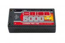 Team Orion Batteries 7.6V 5000mAh 110C LiPo Carbon Pro Short pack Tubes plug