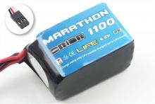 Team Orion Batteries 6.6V 1100mAh 30C LiFe Marathon JR plug