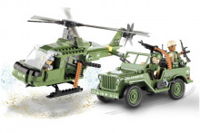 COBI Джип и вертолет Jeep Willys and Helicopter