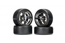"TRAXXAS запчасти Split-spoke black chrome wheels + 1.9"" Drift tires (передние и задние)"