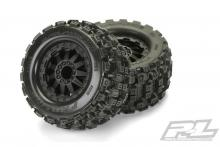 "Proline F-11 Black Wheels + Badlands MX28 2.8"" All Terrain Tires"