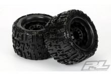 "Proline F-11 Black Wheels + Trencher X 3.8"" (Traxxas® Style Bead) All Terrain Tires"