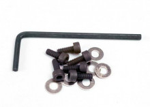 TRAXXAS запчасти Backplate screws (3x8mm cap-head machine) (6):washers (6): wrench