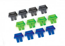 TRAXXAS запчасти Battery charge indicators (green (4), blue (4), grey (4))