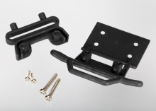 TRAXXAS запчасти Bumper, front : bumper mount, front : 4x23mm RM (2): 3x10mm RST (2) (black)