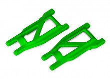 TRAXXAS запчасти Suspension arms, green, front:rear (left & right) (2) (heavy duty, cold weather material)