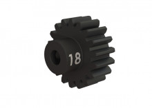 TRAXXAS запчасти Gear, 18-T pinion (32-p), heavy duty (machined, hardened steel): set screw