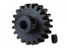 TRAXXAS запчасти Gear, 20-T pinion (32-p), heavy duty (machined, hardened steel): set screw