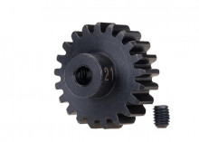 TRAXXAS запчасти Gear, 21-T pinion (32-p), heavy duty (machined, hardened steel): set screw