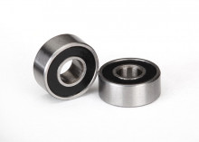 TRAXXAS запчасти Ball bearings, black rubber sealed (4x10x4mm) (2)