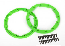 TRAXXAS запчасти Sidewall protector, beadlock style (green) (2): 2.5x8mm CS (24) (for use with Geode wheels)