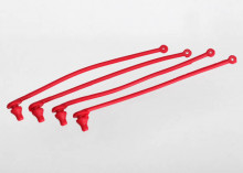TRAXXAS запчасти Body clip retainer, red (4)