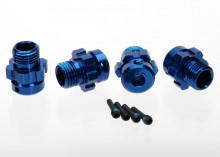 TRAXXAS запчасти Wheel hub, splined, 17mm, 6061-T6 aluminum (blue-anodized) (4): screw pin, 4x13mm (with threadlock)