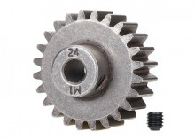 TRAXXAS запчасти Gear, 24-T pinion (1.0 metric pitch) (fits 5mm shaft): set screw (compatible with steel spur gears)