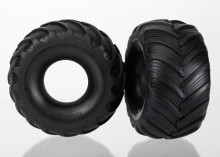TRAXXAS запчасти Tires, dual profile (1.5' outer and 2.2' inner) (left and right)