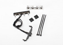 TRAXXAS запчасти LED lightbar, roof (chrome): light harness (4 clear, 2 red): wire tie mount (2): wire tie (3) (requi
