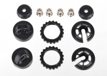 TRAXXAS запчасти Caps and spring retainers, GTR long:xx-long shock (upper cap (2): hollow balls (4): bottom cap (2):