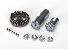 TRAXXAS запчасти Gear set, differential, metal (output gears (2): spider gears (4): ring gear, 35T (1): 2x14.8mm pin